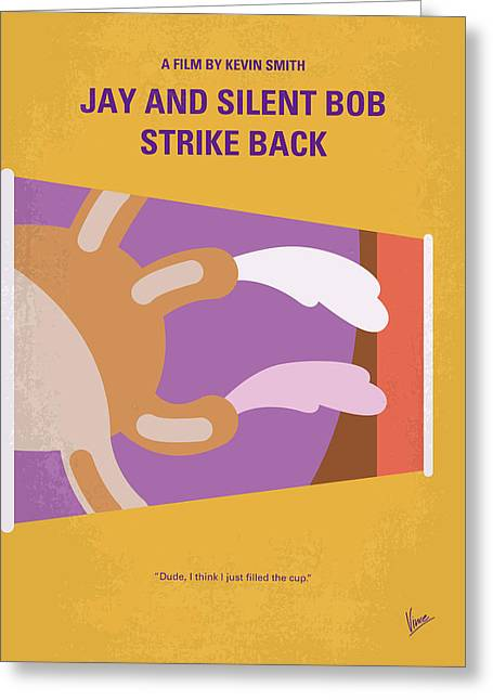 No889 My Jay And Silent Bob Strike Back Minimal Movie Poster Greeting Card