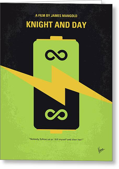 No899 My Knight And Day Minimal Movie Poster Greeting Card