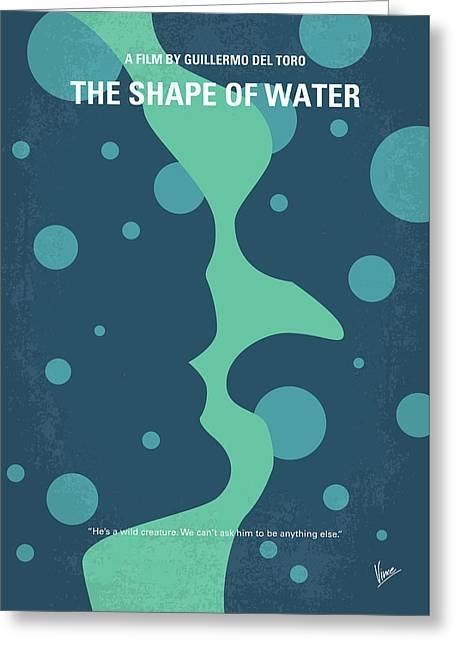 No902 My The Shape Of Water Minimal Movie Poster Greeting Card