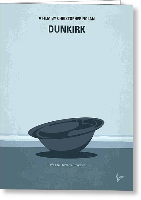No905 My Dunkirk Minimal Movie Poster Greeting Card