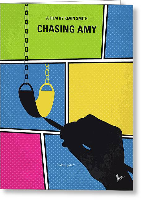 No910 My Chasing Amy Minimal Movie Poster Greeting Card