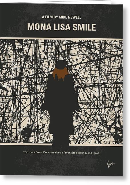 No914 My Mona Lisa Smile Minimal Movie Poster Greeting Card