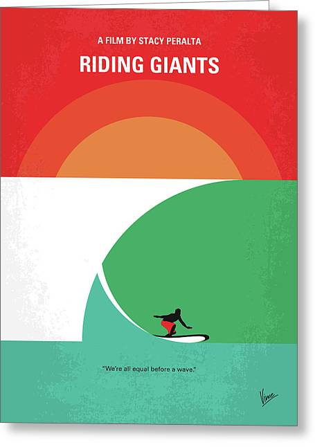 No915 My Riding Giants Minimal Movie Poster Greeting Card