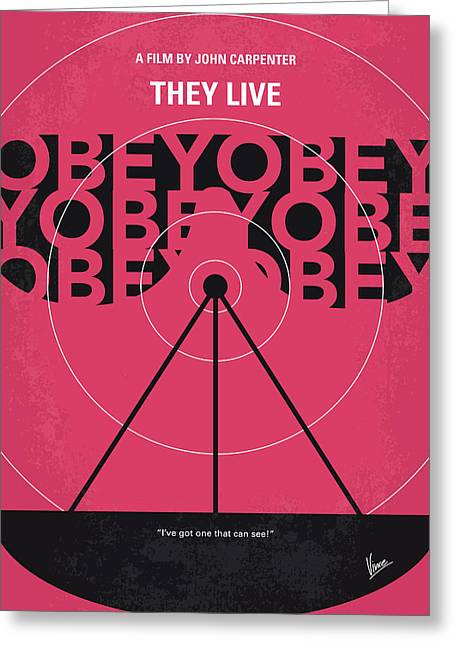 No919 My They Live Minimal Movie Poster Greeting Card