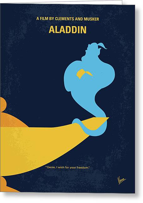 No920 My Aladdin Minimal Movie Poster Greeting Card