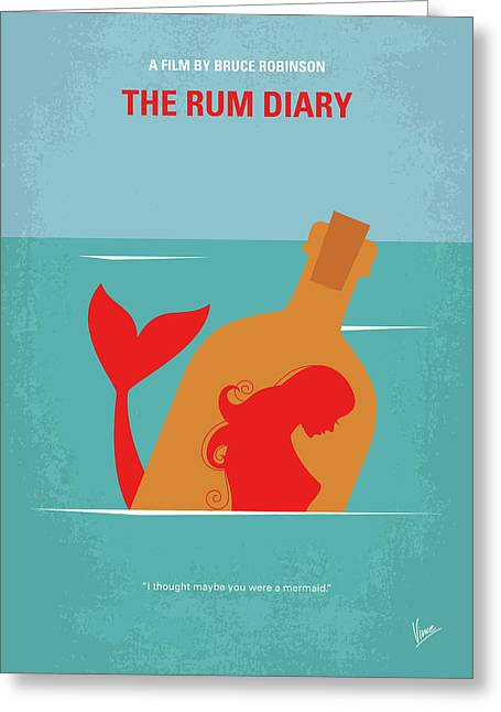 No925 My The Rum Diary Minimal Movie Poster Greeting Card