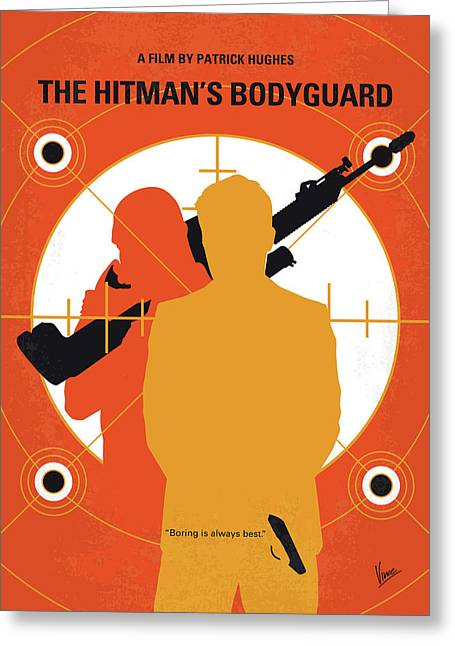 No926 My The Hitmans Bodyguard Minimal Movie Poster Greeting Card