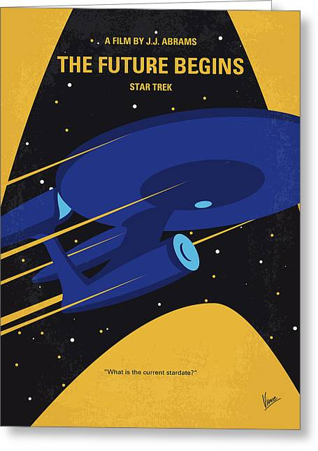 No930 My St The Future Begins Minimal Movie Poster Greeting Card