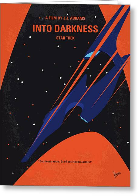 No931 My St Into Darkness Minimal Movie Poster Greeting Card
