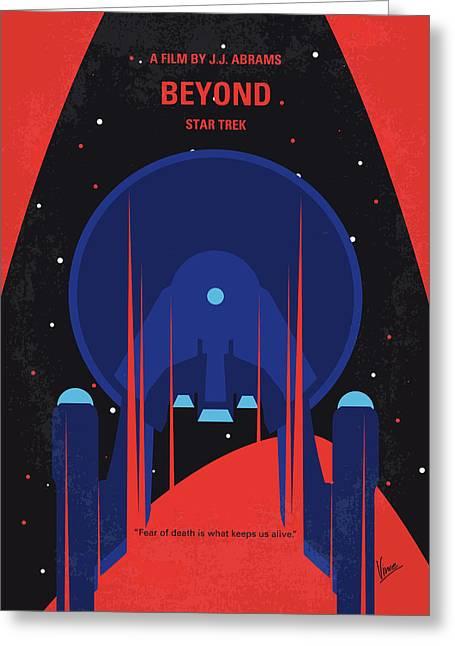 No932 My St Beyond Minimal Movie Poster Greeting Card