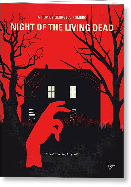The walking dead greeting cards fine art america no935 my night of the living dead minimal movie poster greeting card m4hsunfo