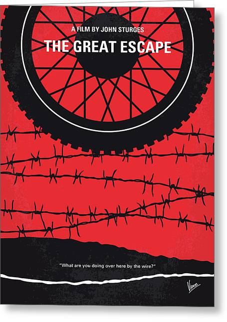 No958 My The Great Escape Minimal Movie Poster Greeting Card