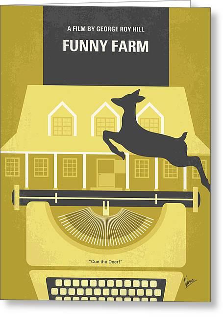 No959 My Funny Farm Minimal Movie Poster Greeting Card