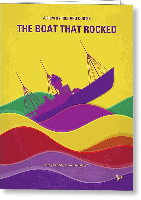 No961 My The Boat That Rocked Minimal Movie Poster Greeting Card