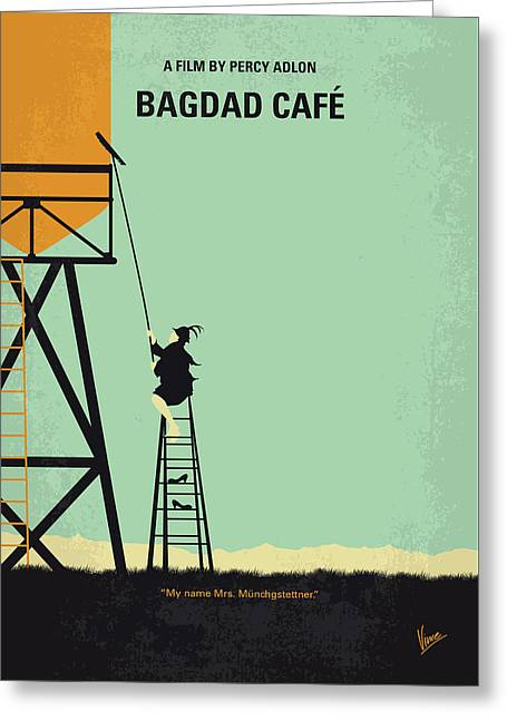 No964 My Bagdad Cafe Minimal Movie Poster Greeting Card