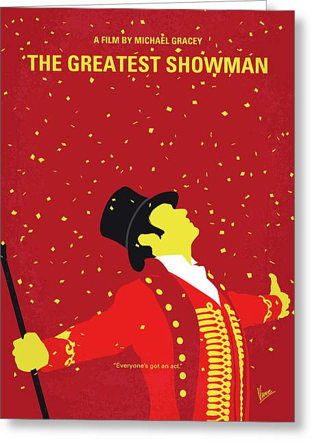 No965 My The Greatest Showman Minimal Movie Poster Greeting Card