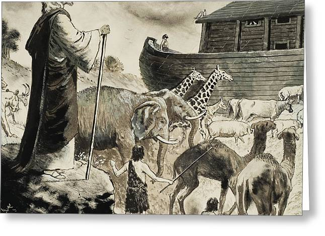 Noah's Ark Greeting Card by Clive Uptton