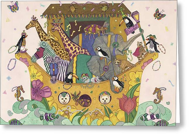 Noah's Ark Greeting Card by Dee Van Houten