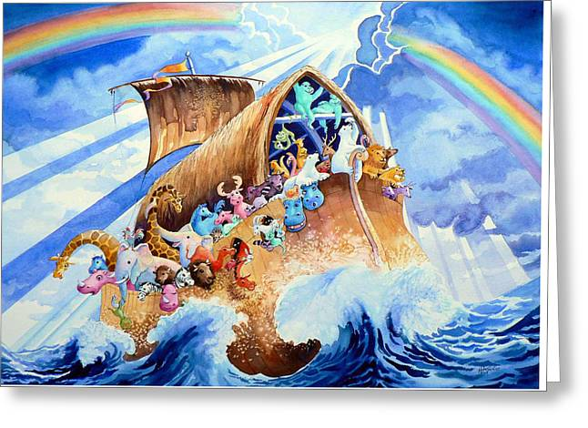 Noahs Ark Greeting Card