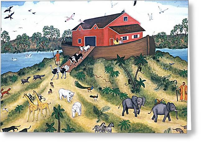 Noah's Ark Greeting Card by Linda Mears
