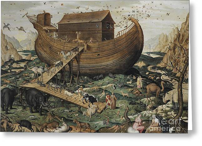 Noah's Ark On Mount Ararat, 1570 Greeting Card