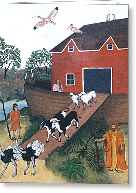 Noah's Ark Two Greeting Card by Linda Mears