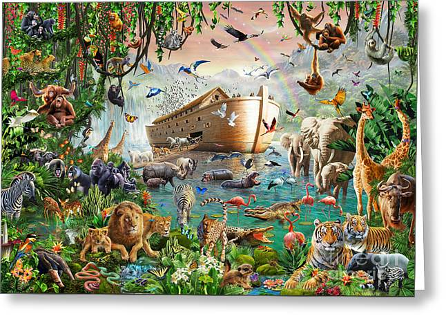 Noah's Ark Variant 1 Greeting Card by MGL Meiklejohn Graphics Licensing