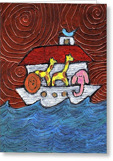 Noahs Ark With Blue Bird Greeting Card