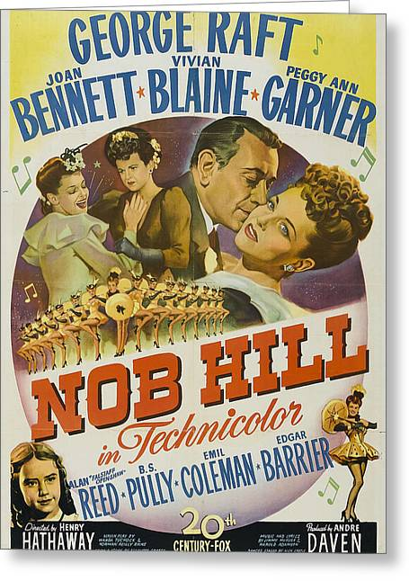 Nob Hill 1945 Greeting Card by Mountain Dreams
