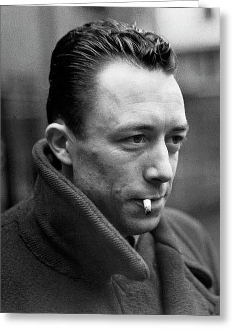 Nobel Prize Winning Writer Albert Camus Unknown Date #1 -2015 Greeting Card by David Lee Guss