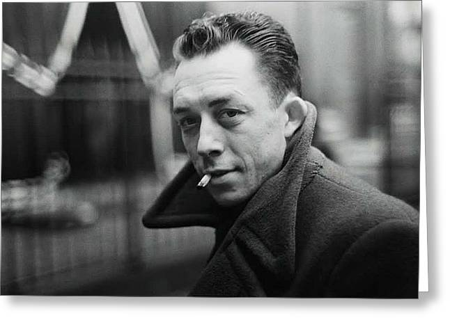 Nobel Prize Winning Writer Albert Camus  Unknown Date-2015           Greeting Card by David Lee Guss