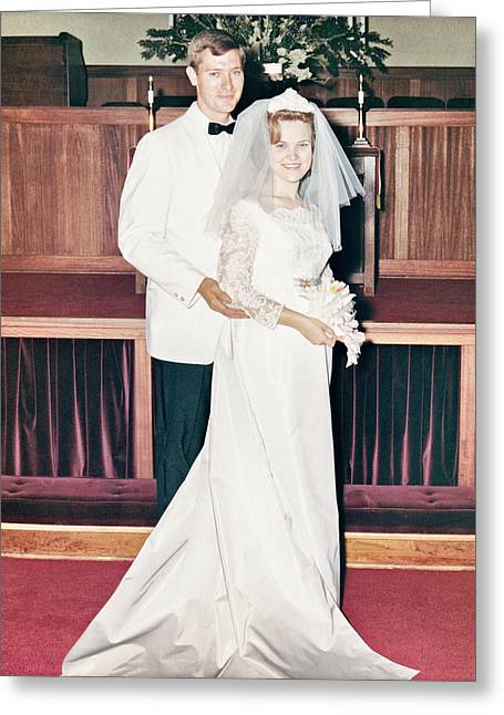 Noble And Vernice Wedding Formal Portrai Greeting Card
