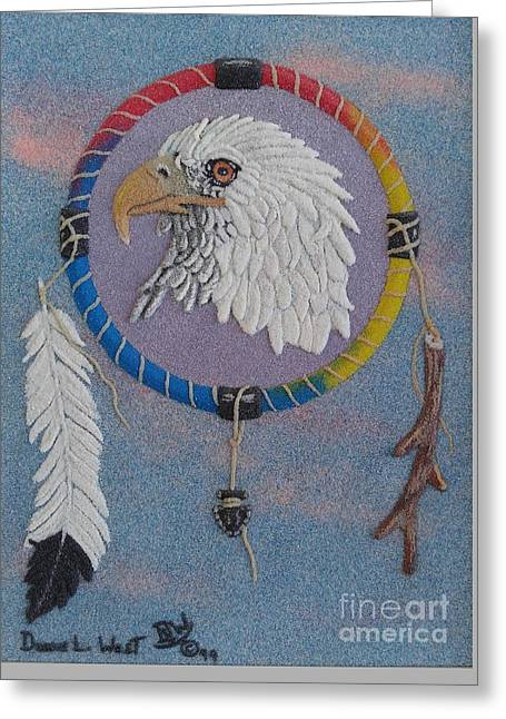 Noble Eagle Medicine Wheel Greeting Card by Duane West