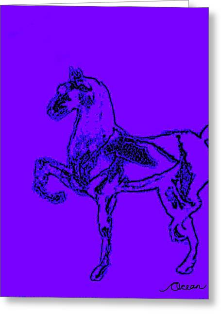 Noble Steed Greeting Card by Ocean