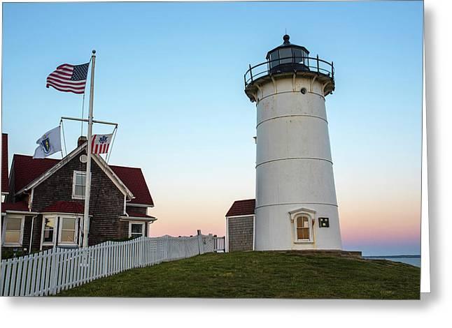 Nobska Light Falmouth Ma Cape Cod Sunset Greeting Card