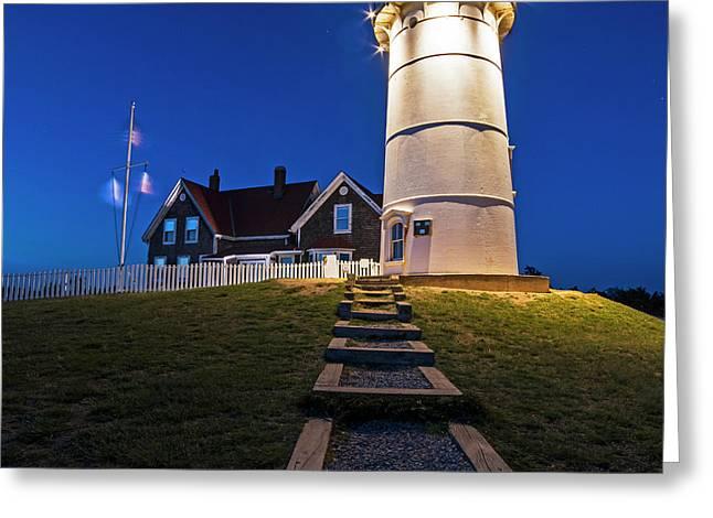 Nobska Light Falmouth Ma Cape Cod Greeting Card