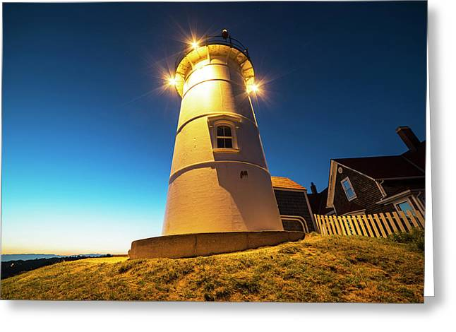 Nobska Light Falmouth Ma Cape Cod Window Shadow Greeting Card