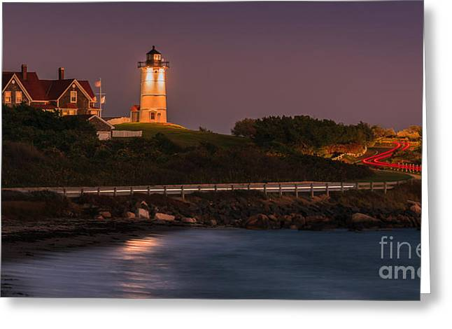 Nobska Lighthouse, Cape Cod, Massachusetts Greeting Card by Henk Meijer Photography