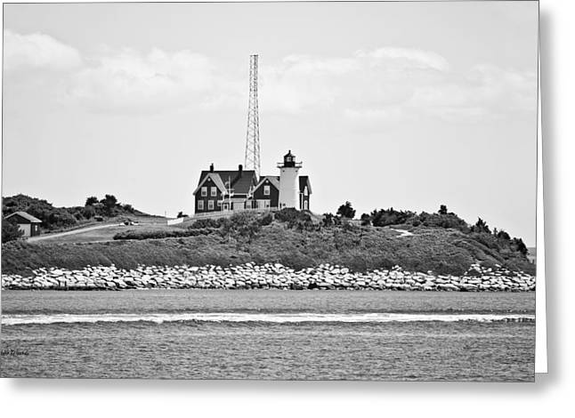Nobska Point Lighthouse Woods Hole Falmouth Massachusetts Greeting Card by Michelle Wiarda
