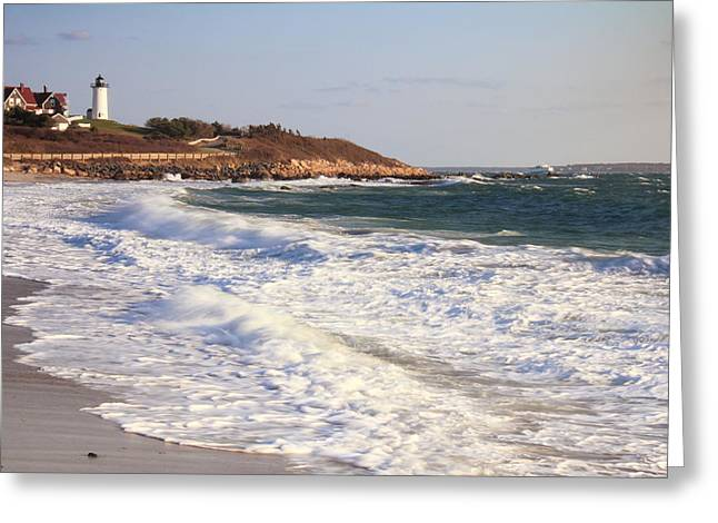 Nobska Point Seascape Greeting Card