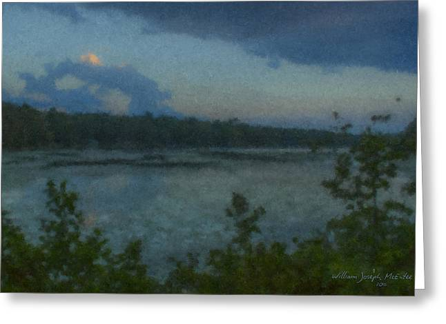 Nocturne At Ames Long Pond Greeting Card