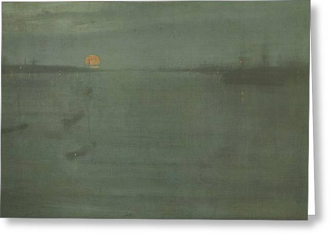 Nocturne Blue And Gold Southampton Water Greeting Card by James Abbott McNeill Whistler