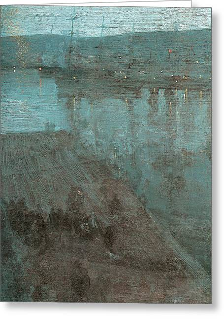 Nocturne In Blue And Gold Valparaiso Greeting Card by James Abbott McNeill Whistler