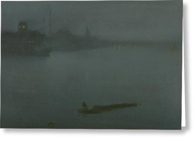 Nocturne In Blue And Silver Greeting Card by James Abbott McNeill Whistler