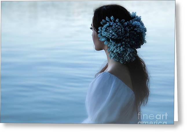 Nocturne In Blue Greeting Card by Spokenin RED