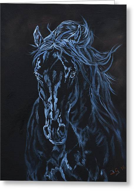 Nocturno Greeting Card by Jana Goode