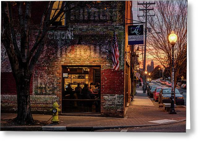 Noda Sunset Greeting Card by Chris Austin