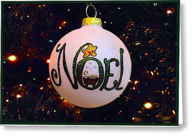 Noel Ornament Christmas Card Greeting Card by Morgan Carter