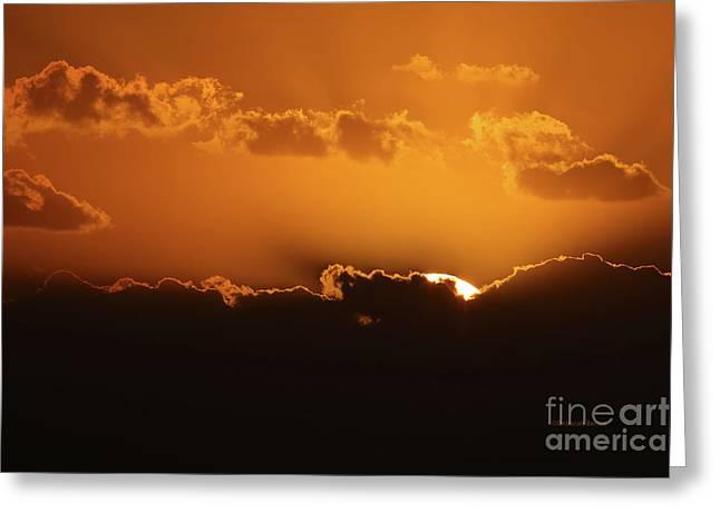 November Sunrise Greeting Card by Deborah Benoit