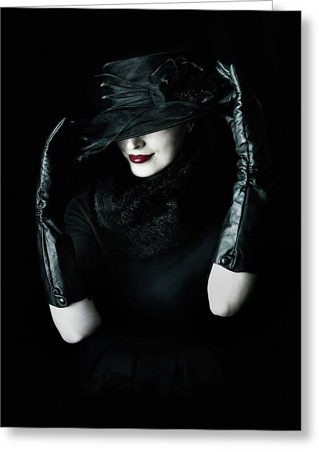 Noir Greeting Card by Cambion Art